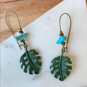 BOGO! Leaf Metal Earrings